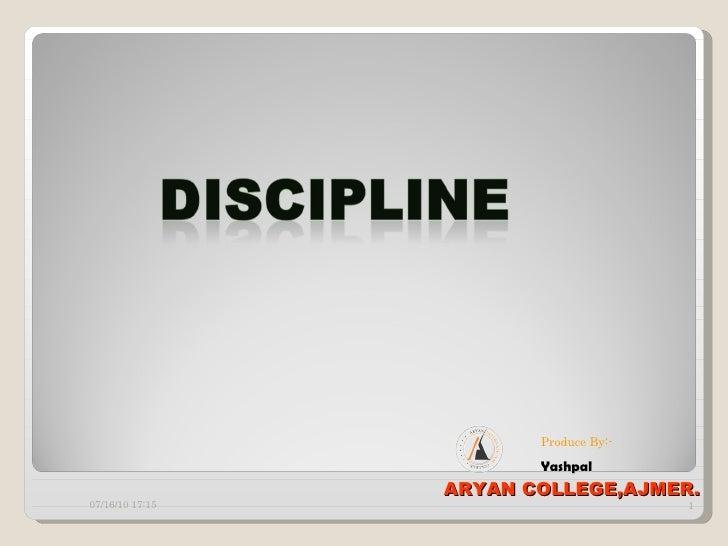 07/16/10   17:00 ARYAN COLLEGE,AJMER. Produce By:- Yashpal