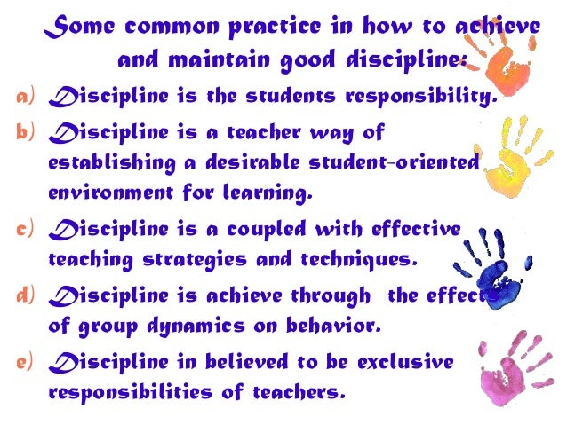 Discipline in Classroom Management
