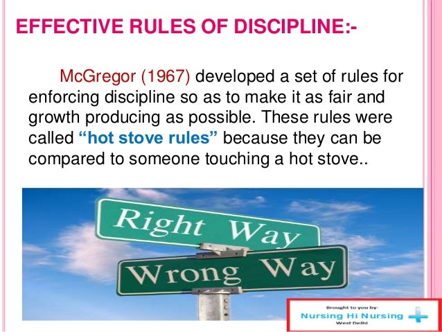 hot stove rule discipline Applying the hot stove rule of discipline in the workplace essay - applying the hot stove rule of discipline in the workplace spare the rod and spoil the child this is the moral to aesop's fable the thief and his mother.