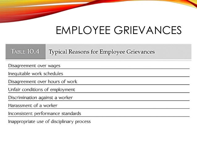 Employee Discipline and Grievance Handling – Employee Complaint Form Example