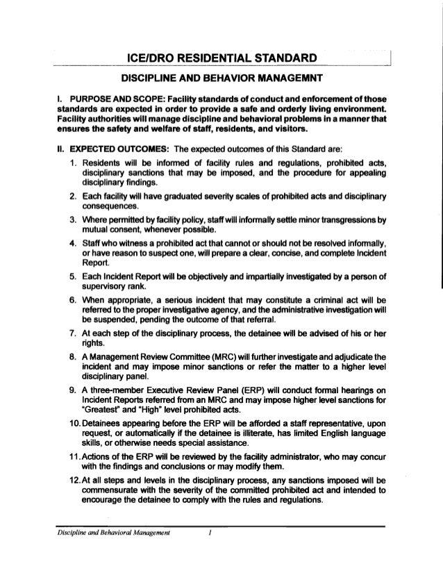 Discipline and management