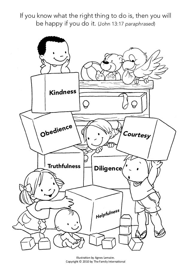 free self discipline coloring pages - photo#24
