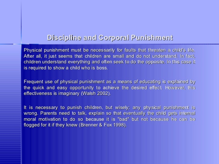 corporal punishment is necessary for good discipline