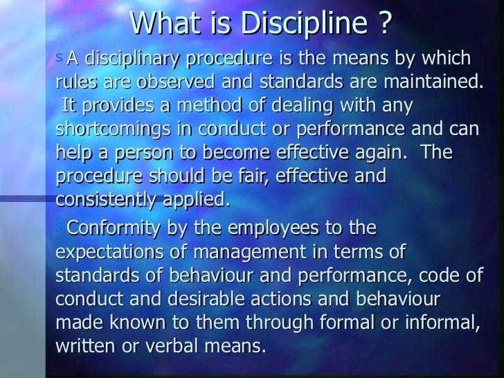 topic on discipline in english
