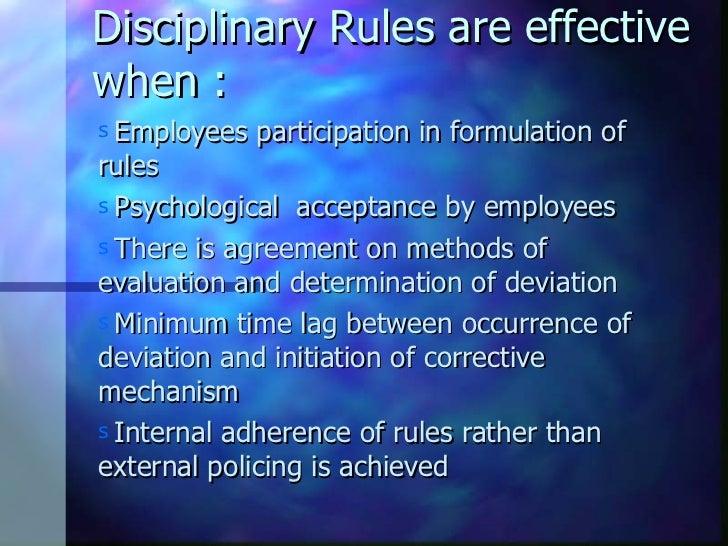 discipline initiation