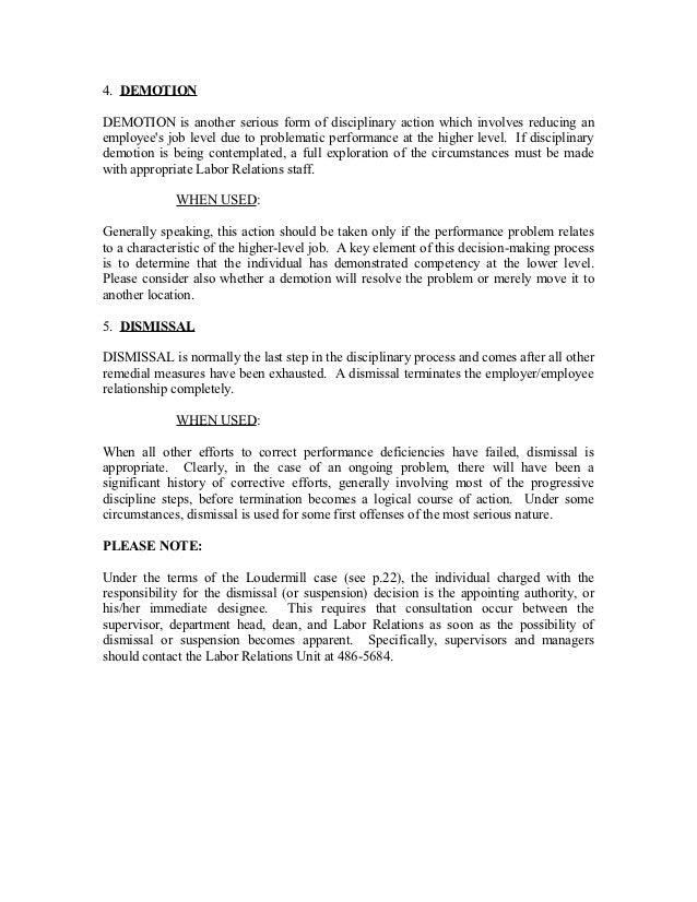 Essay on employee discipline