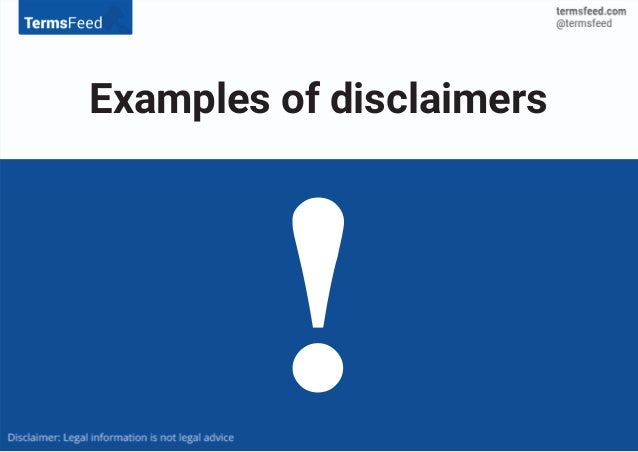 Examples of disclaimers