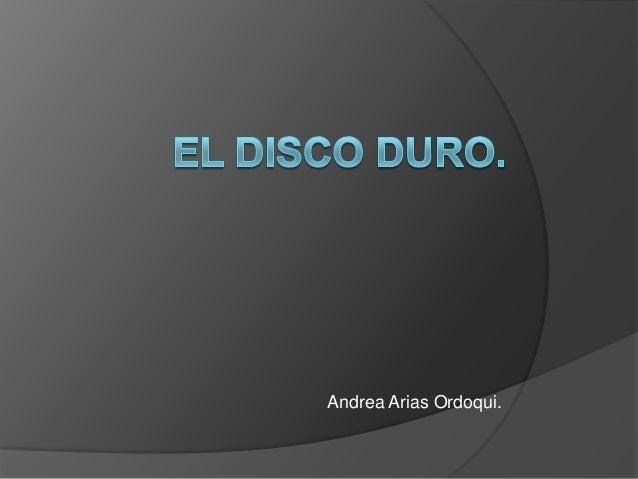 Andrea Arias Ordoqui.