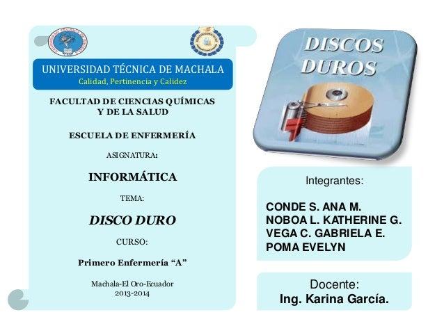 UNIVERSIDAD TÉCNICA DE MACHALA Calidad, Pertinencia y Calidez FACULTAD DE CIENCIAS QUÍMICAS Y DE LA SALUD ESCUELA DE ENFER...
