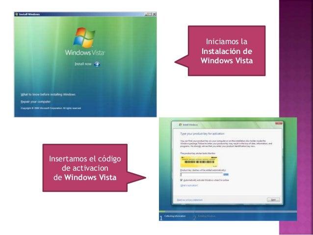 Aparece el aviso legal de Windows Vista, lo leemos y si deseamos aceptamos las condiciones Debemos seleccionar el modo de ...