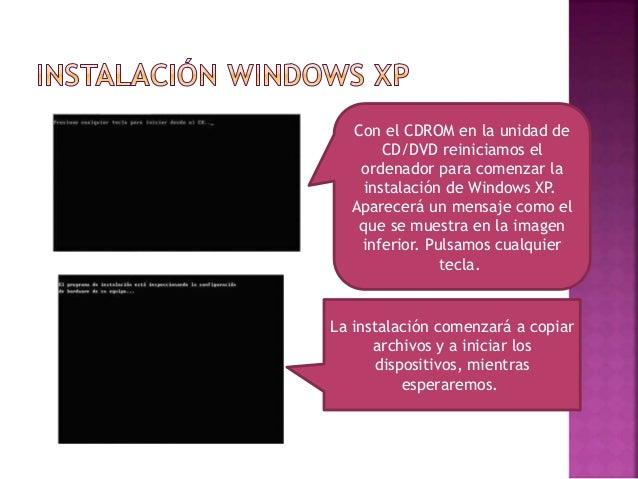 Cuando lleguemos a este punto de la instalación de presionamos ENTER para confirmar la instalación de Windows en disco dur...