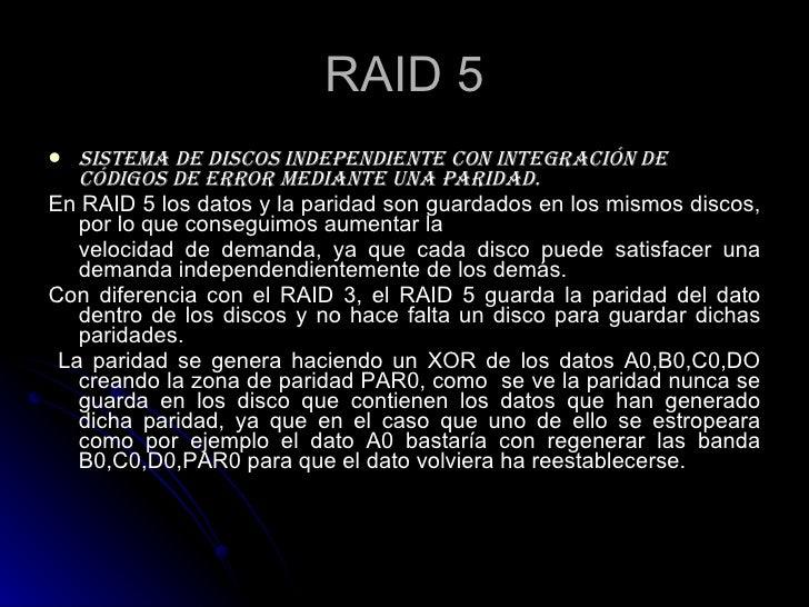 IMPLEMENTACION DEL RAID5 Slide 2