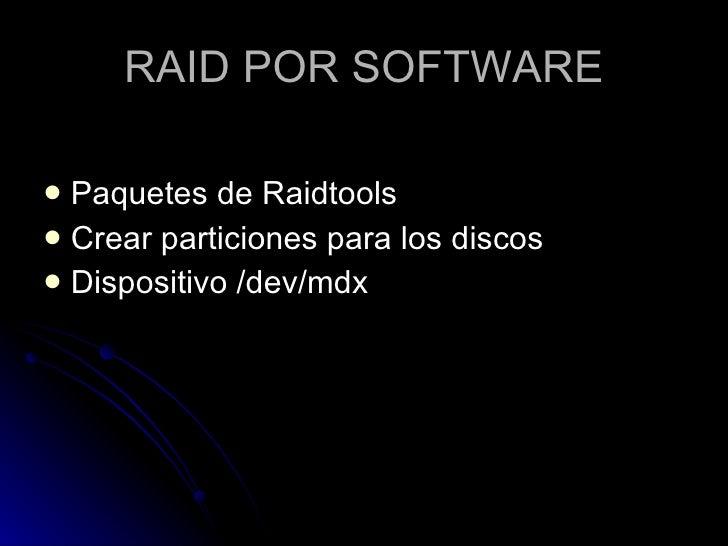 IMPLEMENTACION DEL RAID5 Slide 3