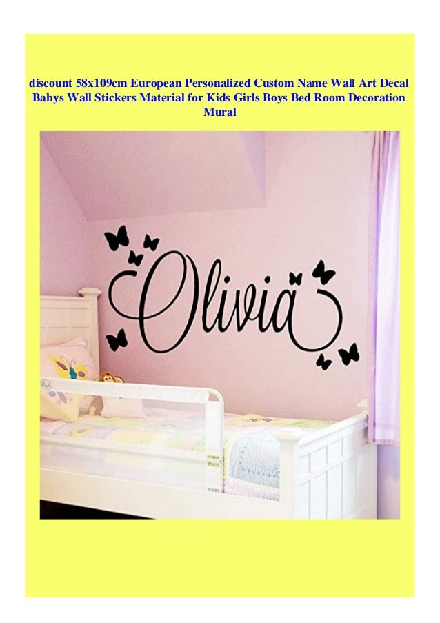 European Personalized Custom Name Wall Art Decal babys Wall Stickers Material