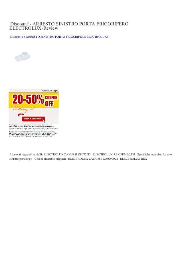Discount arresto-sinistro-porta-frigorifero-electrolux-review