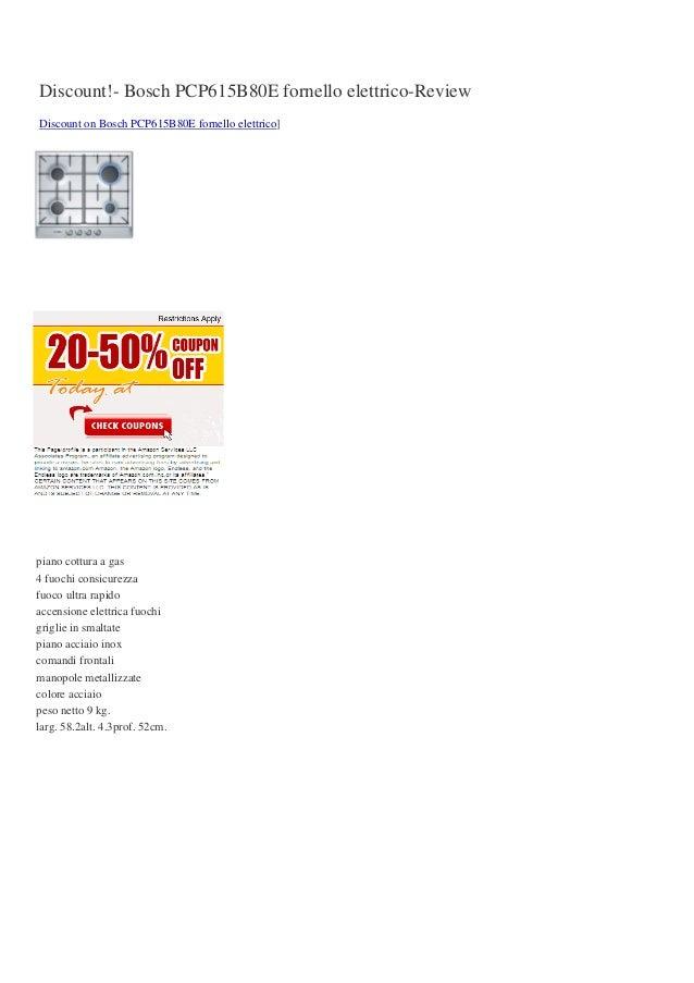 Discount bosch pcp615b80e fornello elettrico review for Fornello elettrico ikea