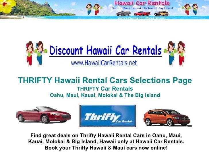 Discount Hawaii Car Rentals - Discount hawaii
