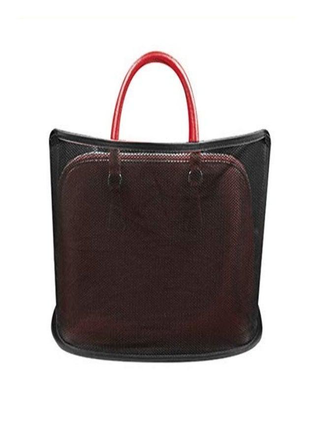 LUCKYYL Car Cache - Handbag Holder Car Purse Storage,Seat Back Organizer Mesh,Large Capacity Bag for Purse Storage Phone D...