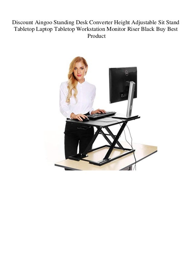 Discount Aingoo Standing Desk Converter Height Adjustable