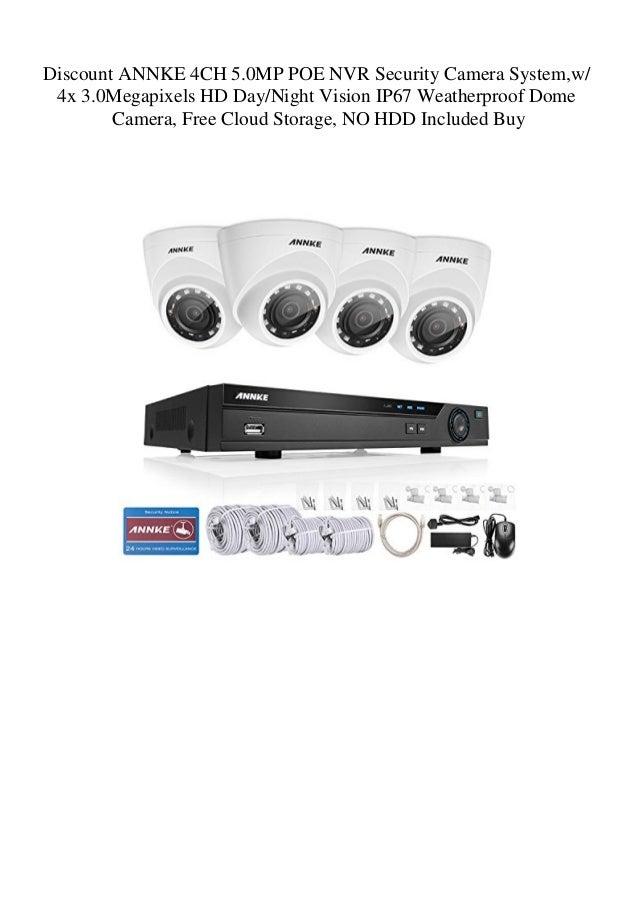 Discount ANNKE 4CH 5 0MP POE NVR Security Camera System w 4x 3 0Megap…
