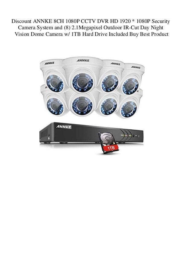 Discount ANNKE 8CH 1080P CCTV DVR HD 1920 1080P Security