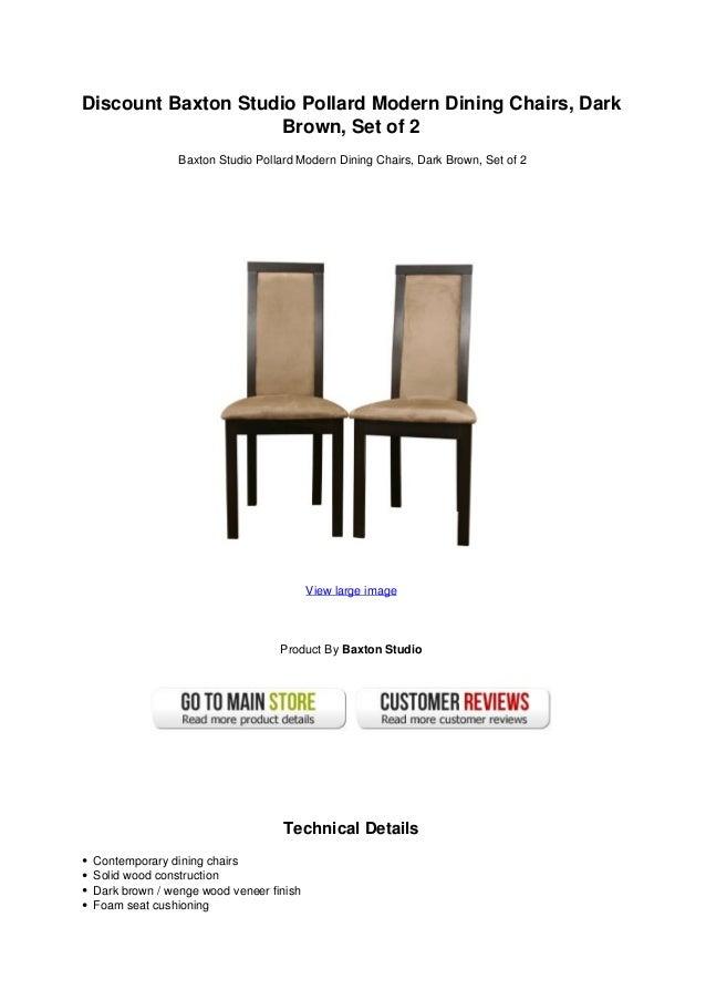 Discount Baxton Studio Pollard Modern Dining Chairs Dark Brown Set Of