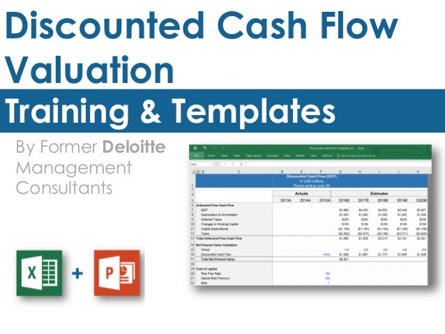 discounted cash flow analysis excel template - discounted cash flow model template in excel by ex