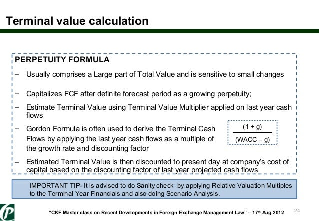 power of terminal value Our valuation experience and expertise for over twenty years, appraisal economics has been meeting the power plant valuation needs power generating facilities throughout the.