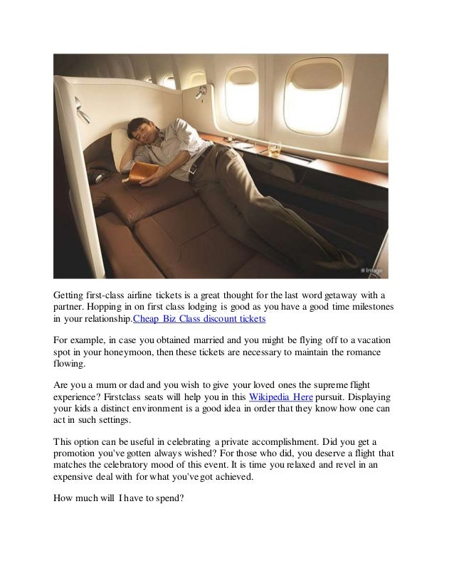 How To Get Cheapest Business And First Class Tickets
