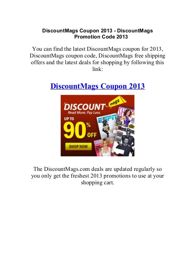 Discount mags coupon