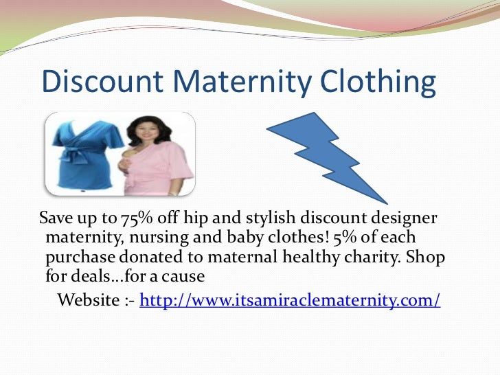 Discount Maternity Clothes