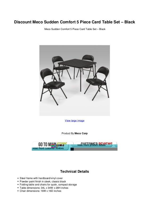 Brilliant Discount Meco Sudden Comfort 5 Piece Card Table Set Black Pabps2019 Chair Design Images Pabps2019Com
