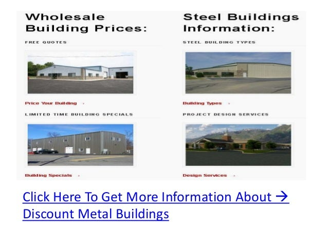 Click Here To Get More Information About Discount Metal Buildings