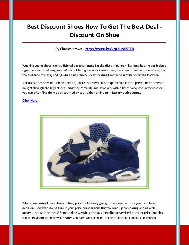 Best Discount Shoes How To Get The Best Deal - Discount On Shoe __________________________________________________________...