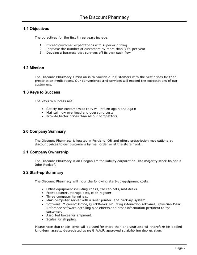 pharmacy marketing plan Like your business plan, your marketing plan will  your marketing activities  before your pharmacy actually.