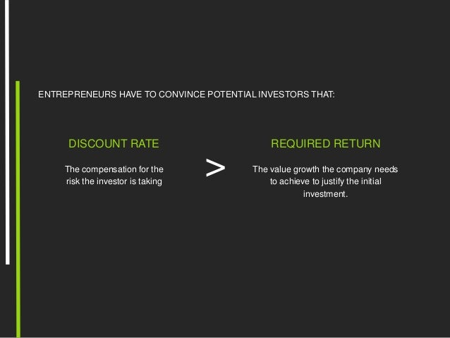 Discount rate for the valuation of your company or startup