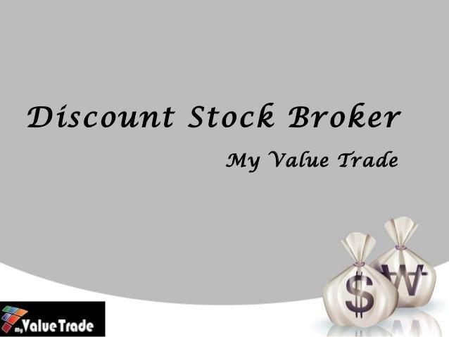 Discount Stock Broker My Value Trade