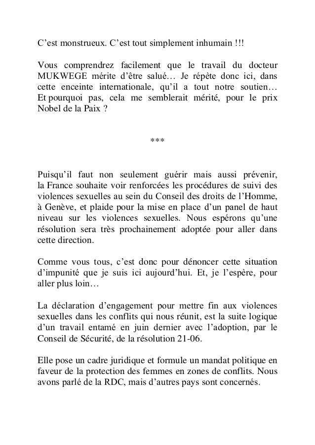 Discours de-madame-trierweiler-l onu-contre-les-violences-sexuelles-dans-les-conflits Slide 3