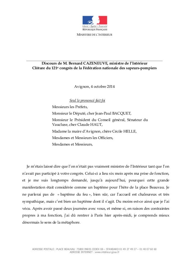 ADRESSE POSTALE : PLACE BEAUVAU 75800 PARIS CEDEX 08 – STANDARD 01 49 27 49 27 – 01 40 07 60 60 ADRESSE INTERNET : www.int...