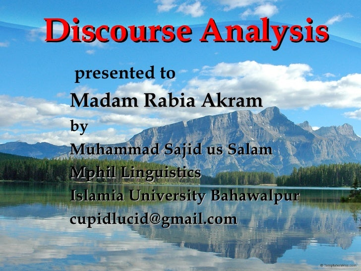 Discourse Analysis Slide 2