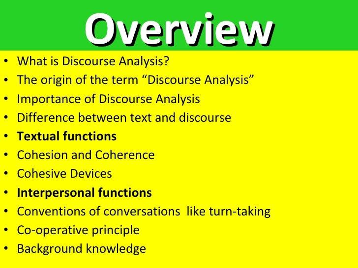 Discourse Analysis Slide 3