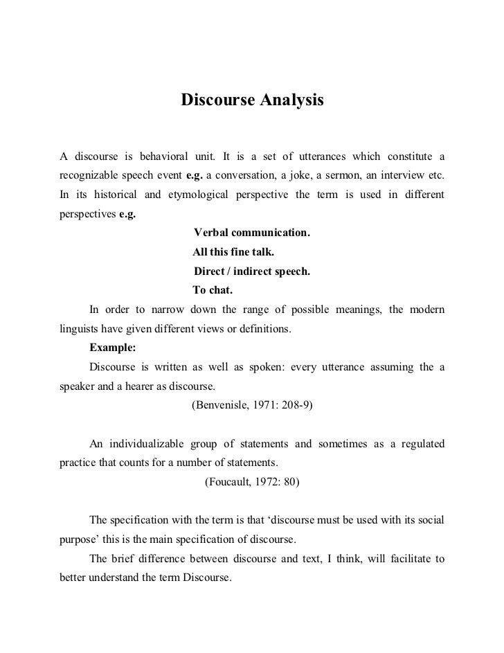 Discourse analysis: what is it and why is it relevant to family practice?