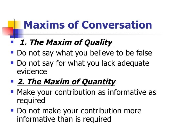 An analysis of rules and maxims