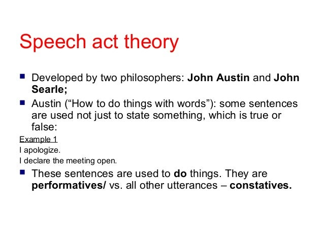 austin searle speech act theory