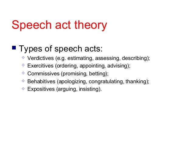 the application of speech act theory Artificial intelligence iv: methodology, systems, applications ph jorrand and v sgurev (editors) elsevier science publishers bv (north-holland) apia, 1990 351 s p e e c h a c t t h e o r y and e p i s t e m i c p l a n n i n g allan ramsay d e p a r t m e n t of computer science university college dublin belfield, dublin 4, ireland we review the use of speech act theory in ai natural.