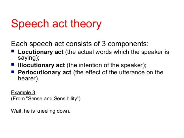 a pragmatic analysis of speech acts Towards a multimodal pragmatic analysis of film methodology operates in the analysis of speech acts appearing in the source text and the target text.