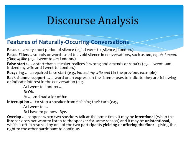 Discourse Analysis Worksheet