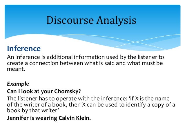 discourse analysis Full-text (pdf) | this articles explores how discourse analysis is useful for a wide range of research questions in health care and the health professions previous.