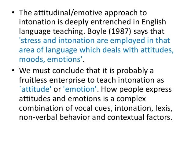 discourse intonation in elt Elt materials (textbooks) play a very important role in many language  classrooms  communication and discourse, not simply to teach the intonation  pattern.