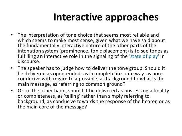 Discourse intonation in elt